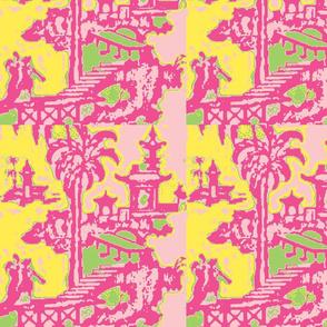 Escher pagoda baby pink