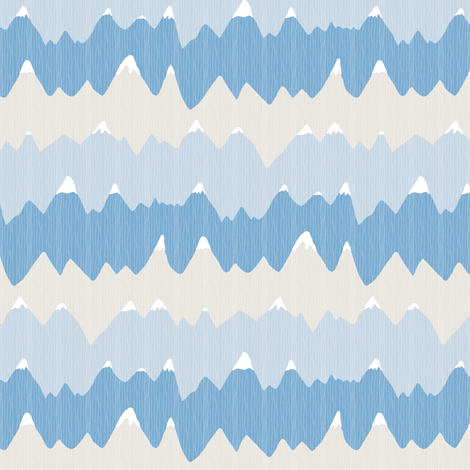 Snowy Mountain Peaks fabric by fig+fence on Spoonflower - custom fabric
