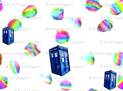 Psychedelic Rainbow TARDIS