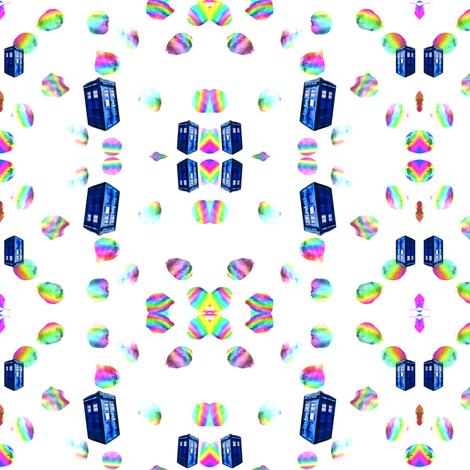 Psychedelic Rainbow TARDIS