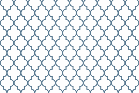 Philipsburg Blue Quatrefoil