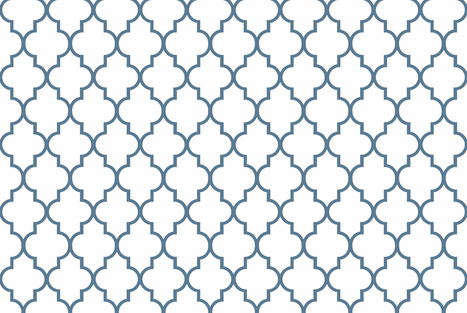 Philipsburg Blue Quatrefoil fabric by willowlanetextiles on Spoonflower - custom fabric