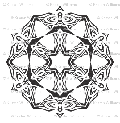 Butterfly Wheel (black and white)