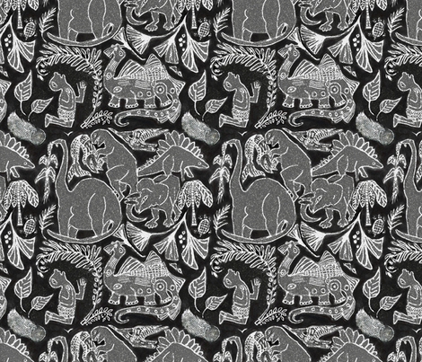 Peruvian Dinosaur Ica Stone - small fabric by wren_leyland on Spoonflower - custom fabric