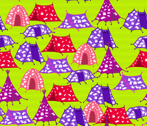 Tents fabric by alexsan on Spoonflower - custom fabric