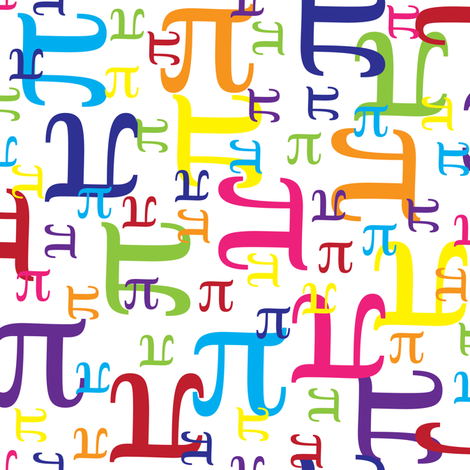 Pieces of Pi fabric by robyriker on Spoonflower - custom fabric