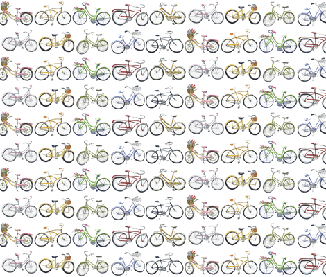 Vintage Bikes fabric by lesliezemsky on Spoonflower - custom fabric