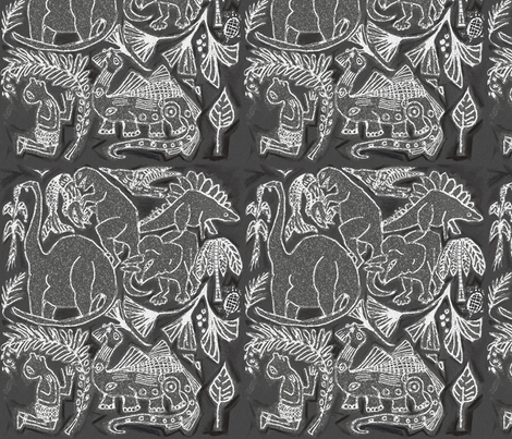 Ica Stone - Peruvian Dinosaurs fabric by wren_leyland on Spoonflower - custom fabric