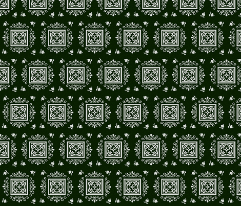Victorian Green & Grey fabric by kaylaconspiracy on Spoonflower - custom fabric