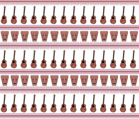Ukes and Tikis fabric by landofukeandhoney on Spoonflower - custom fabric