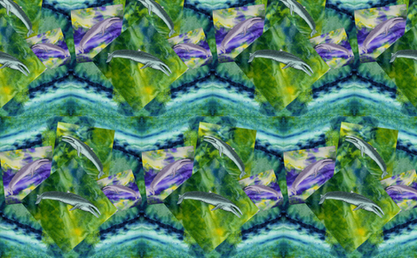 Blue_Whales fabric by art_on_fabric on Spoonflower - custom fabric
