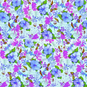 FLORAL Grape Periwinkle