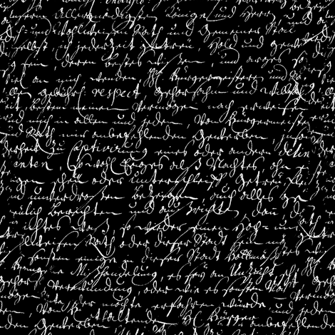 I Thought I'd Write To Juliet... Black & White fabric by peacoquettedesigns on Spoonflower - custom fabric