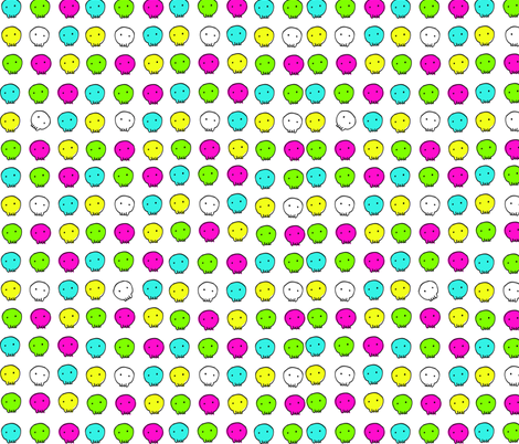 Happy Shiny Skulls fabric by teaandcraft on Spoonflower - custom fabric