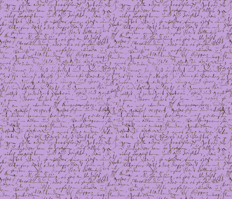 I Thought I'd Write To Juliet... Lavender fabric by peacoquettedesigns on Spoonflower - custom fabric