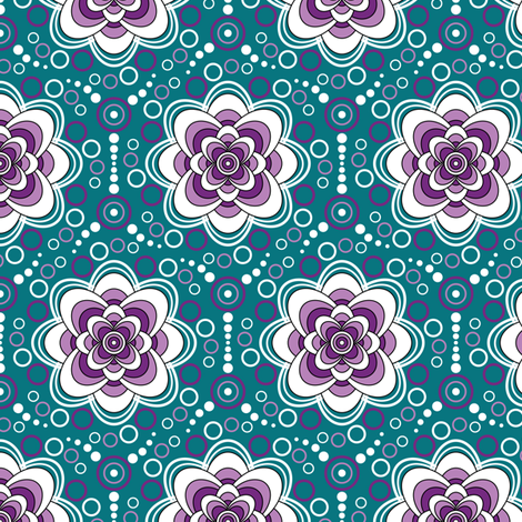 Bubbles in Bloom-grape fabric by jjtrends on Spoonflower - custom fabric