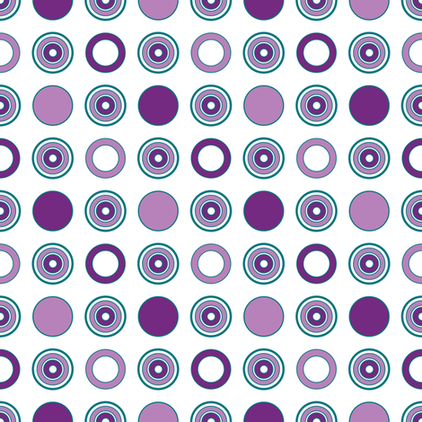 Grape Dots fabric by jjtrends on Spoonflower - custom fabric
