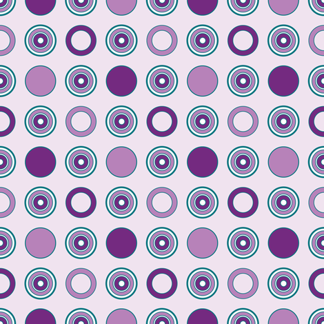 Grape Dots on Violet fabric by jjtrends on Spoonflower - custom fabric