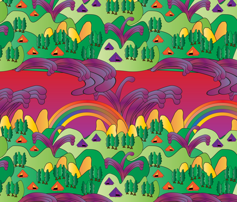psychedelic camp site fabric by kociara on Spoonflower - custom fabric