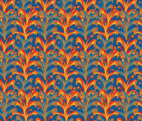 psychedelic Art Nouveau 3 fabric by kociara on Spoonflower - custom fabric