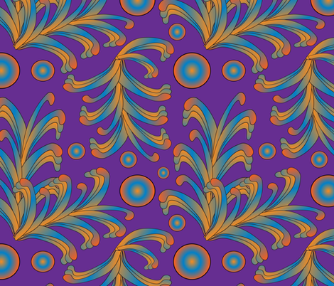 psychedelic Art Nouveau 4 fabric by kociara on Spoonflower - custom fabric