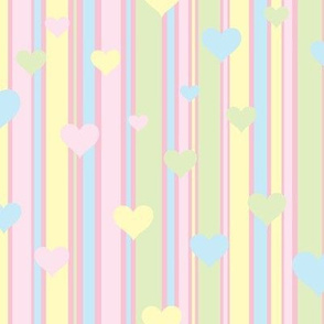 Pastel Stripes and Hearts