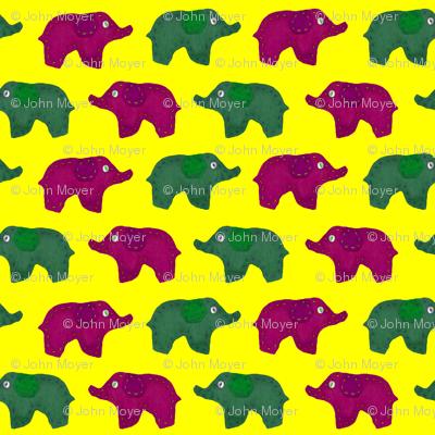Bed Time Elephants Yellow