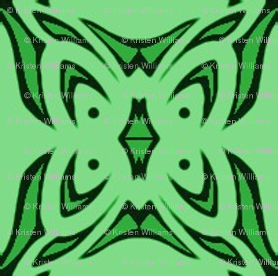 Butterfly Cushion (two tone green)