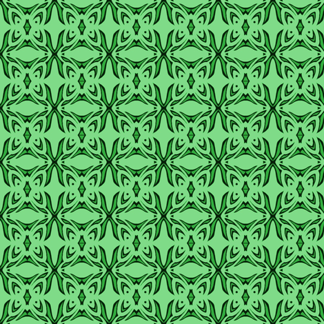 Butterfly Cushion (two tone green) fabric by ladyleigh on Spoonflower - custom fabric