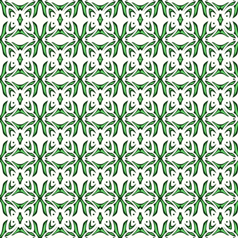 Butterfly Cushion (green and white) fabric by ladyleigh on Spoonflower - custom fabric