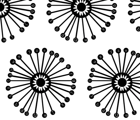 Daisy Wheels fabric by boris_thumbkin on Spoonflower - custom fabric