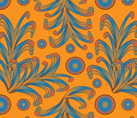 psychedelic Art Nouveau 6  fabric by kociara on Spoonflower - custom fabric