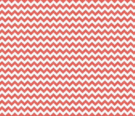 Coral linen chevrons fabric by spacefem on Spoonflower - custom fabric