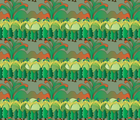 imaginary scenery 4 fabric by kociara on Spoonflower - custom fabric