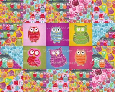 Owl Zig Zag Cheater Quilt for Laura & her new baby James :)