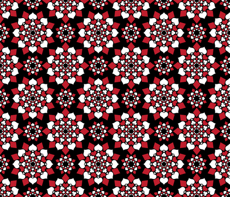 A Suit of Flowers (Black) fabric by robyriker on Spoonflower - custom fabric