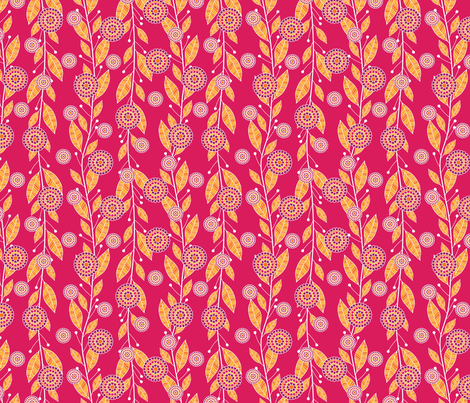 Pomegranate Seed Bouquets in Pink fabric by robyriker on Spoonflower - custom fabric