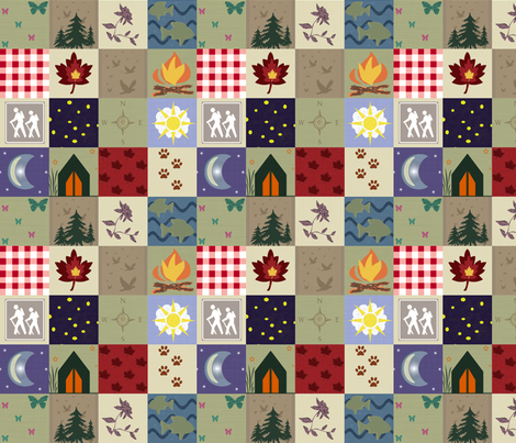 Gone Camping fabric by arttreedesigns on Spoonflower - custom fabric
