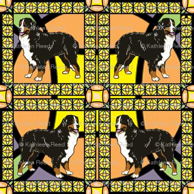 Bernese Mountain Dog frame fabric
