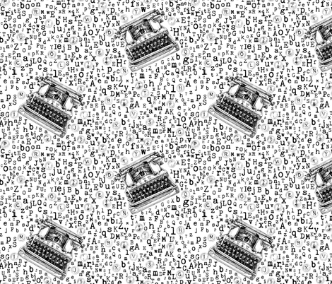 Type Soon - black and white fabric by nicoletamarin on Spoonflower - custom fabric