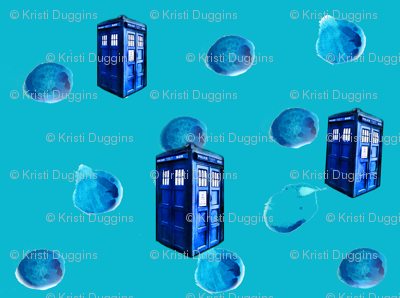 Doctor Who Inspired Painted Polka Dots &amp; Police Boxes