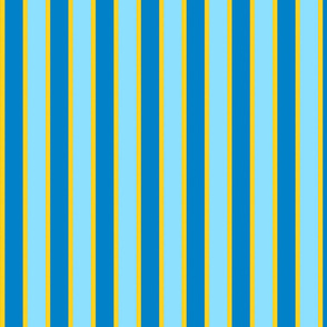 Sunny day - gold edged ribbon stripe
