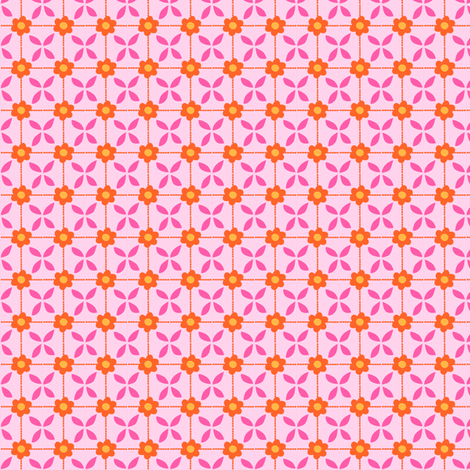 Zig Zag Pet Party flower grid 2 fabric by bzbdesigner on Spoonflower - custom fabric