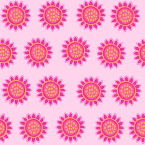 Zig Zag Pet Party pink sunflowers