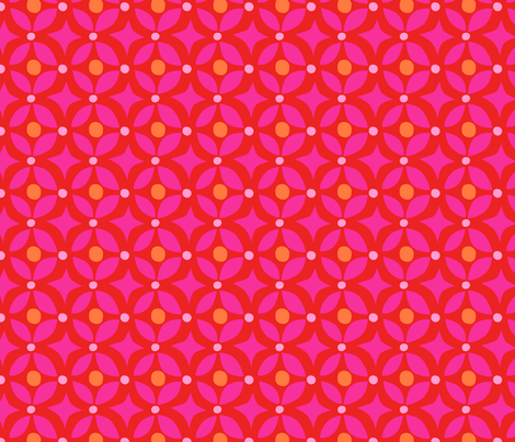 Zig Zag Pet Party pink star fabric by bzbdesigner on Spoonflower - custom fabric