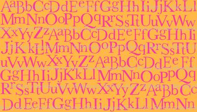 Zig Zag Pet Party alphabet orange