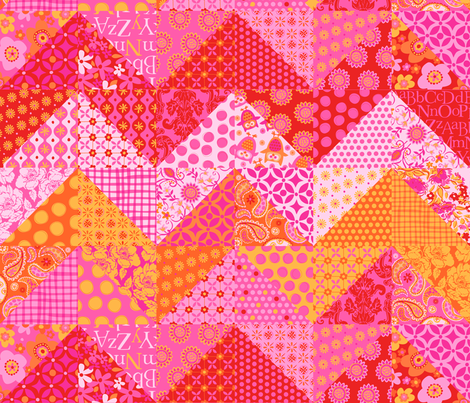 Zig Zag  Patchwork fabric by bzbdesigner on Spoonflower - custom fabric