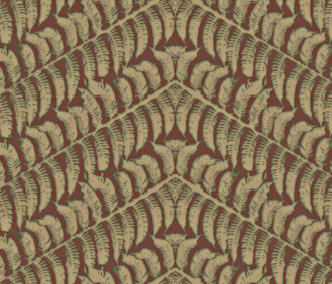 Putty Fern fabric by wiccked on Spoonflower - custom fabric
