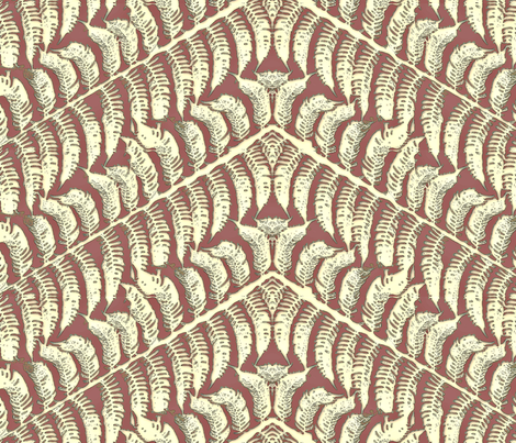 Skeleton Fern fabric by wiccked on Spoonflower - custom fabric