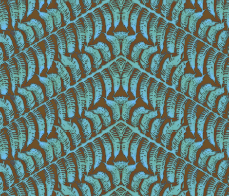Sky Fern fabric by wiccked on Spoonflower - custom fabric